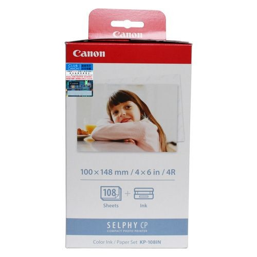 Canon KP-108IN 4R Color Ink / Paper Set