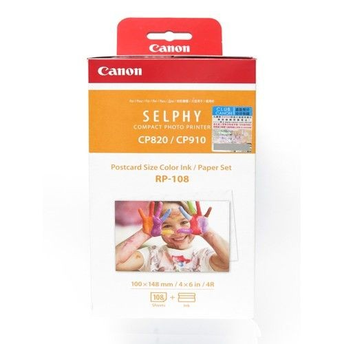 Canon RP-108 Postcard Size Color Ink/Paper Set